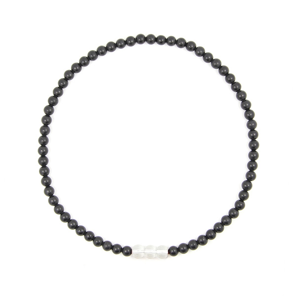 泗滨砭石白水晶项链,砭石项链图2