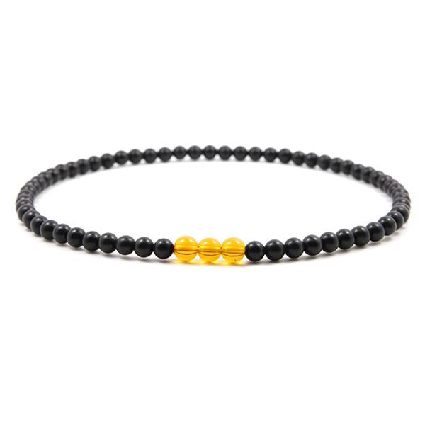 泗滨砭石黄水晶项链,砭石项链图1