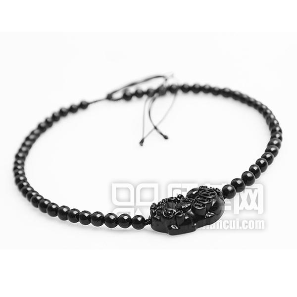貔貅泗滨砭石项链,砭石项链图2