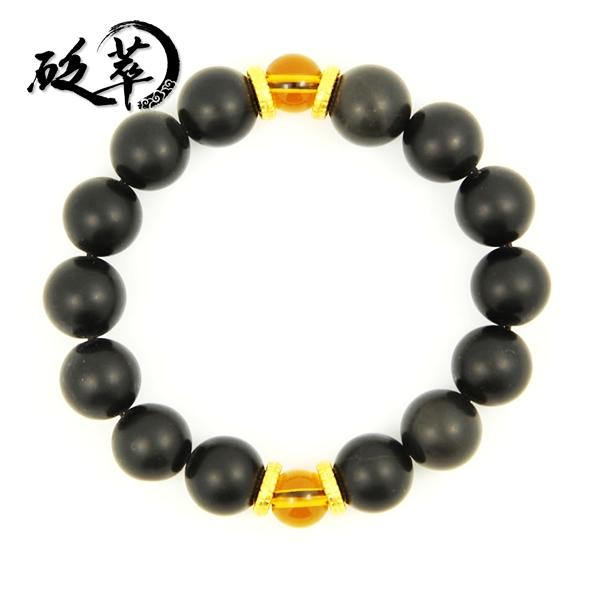 泗滨砭石11mm黄水晶手链图4
