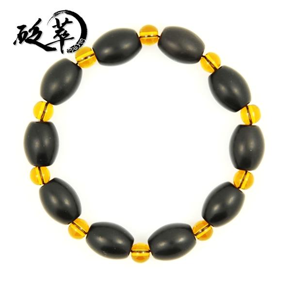 泗滨砭石米珠黄水晶手链图4