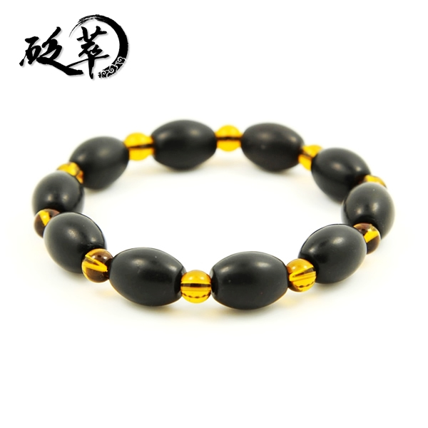 泗滨砭石米珠黄水晶手链
