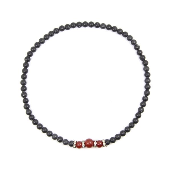 泗滨砭石玛瑙项链,砭石项链图3