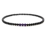 泗滨砭石紫水晶项链