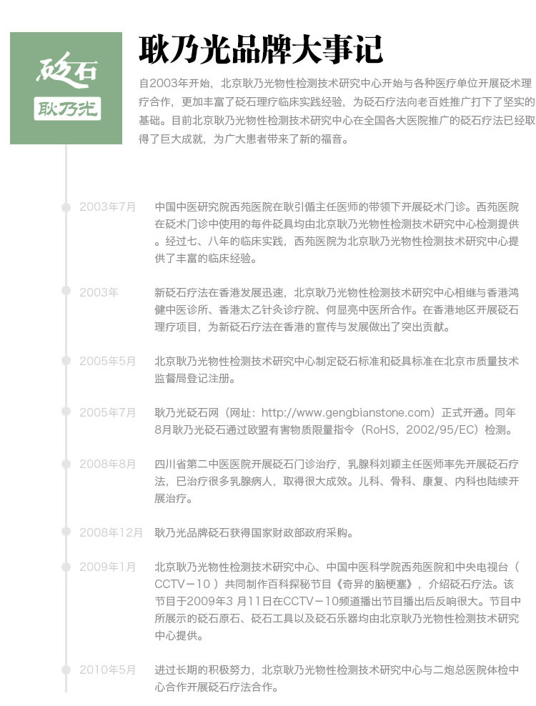耿乃光品牌:耿乃光品牌大事记