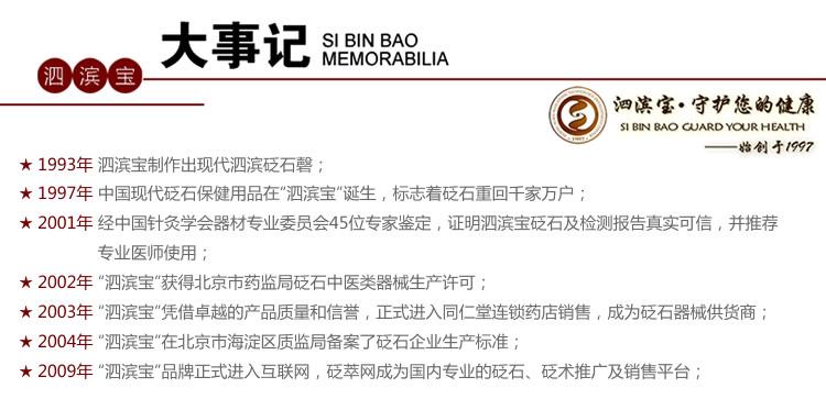 砭萃网 • 泗滨宝品牌说明:大事记