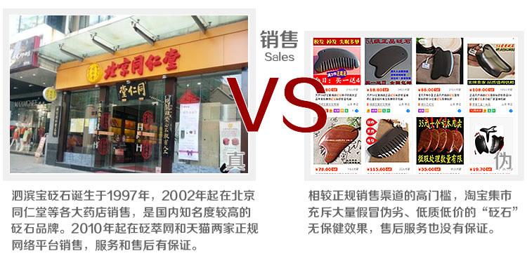 砭萃网 • 泗滨宝品牌说明:真假对比5
