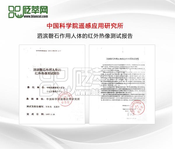 泗滨砭石作用人体的红外热像测试报告