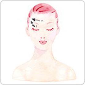 眼部刮痧美容的手法2
