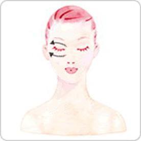眼部刮痧美容的手法3