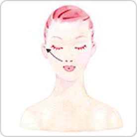 眼部刮痧美容的手法4